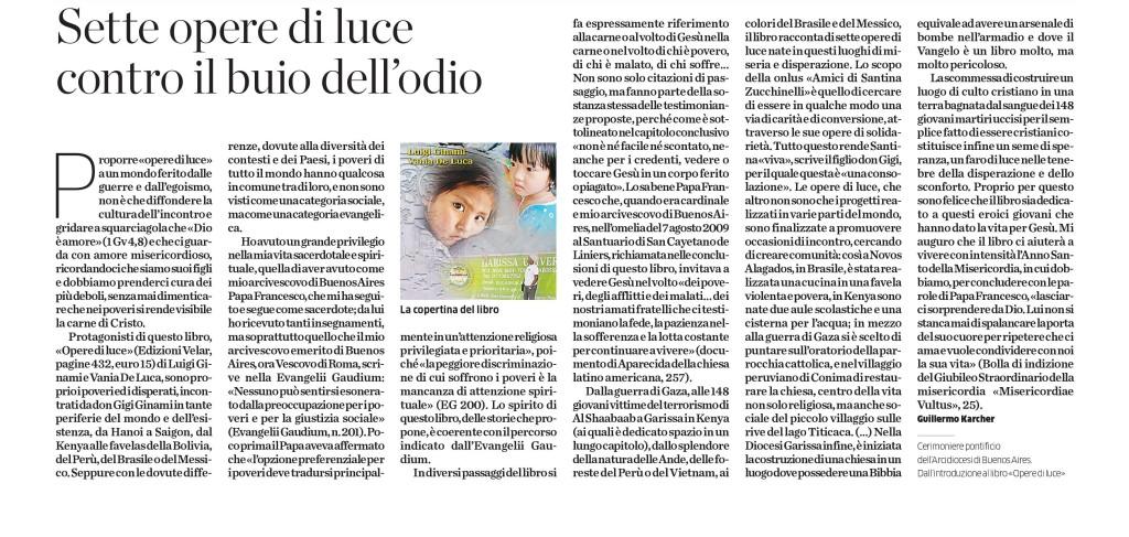 Articolo Eco di Bergamo 10 12 2015