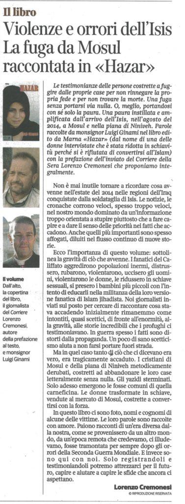 Corriere della sera 21/12/2016